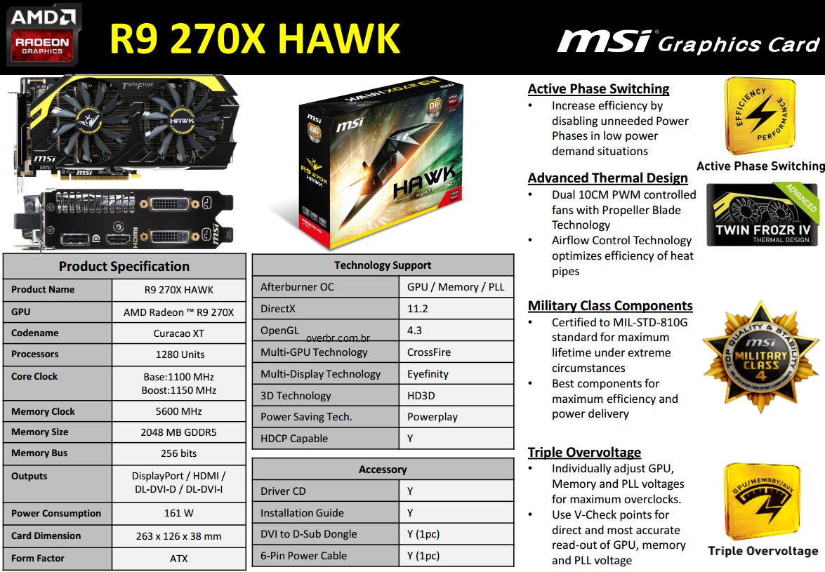 R9 270X Hawk MSI