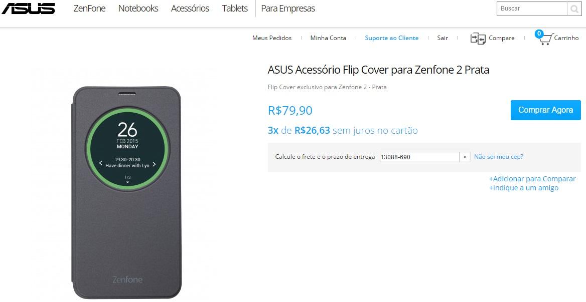 comprar zenfone brasil