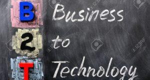 12389741-Acronym-of-B2T-Business-to-Technology-written-on-a-blackboard-Stock-Photo