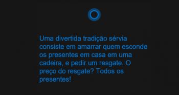 Imagem mensagem Natal Cortana Microsoft