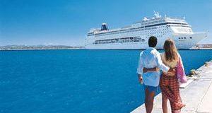 Imagem praia navio cruzeiro viagens