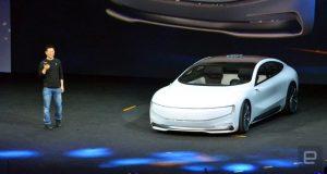 Imagem Carro elétrico Chinez com a Faraday