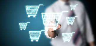 e-commerce está em alta encher os carrinhos