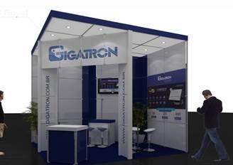Stand padrão Gigatron Franchising que estará na feira Autocom
