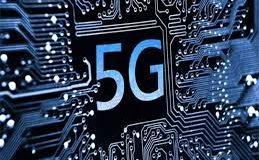 5G no Brasil - simbolo 5G e trilhas de circuitos