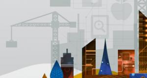 Fintechs representação de conjunto de prédios