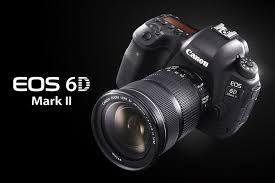 Câmera EOS 6D vista superior e na diagonal