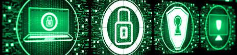 Green IT símbolos segurança e data centers notebook