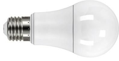 uma lâmpada LED de bulbo deitada parte da linha LED Decor Tramontina