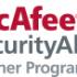 Logomarca da McAfee programa de parceiros em cibersegurança