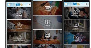 app Sil três celulares com arquivos distintos