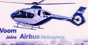 Banner com helicóptero da Voom