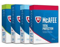 4 caixas de anti-vírus McAfee