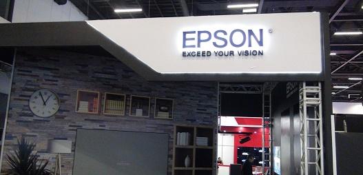 Estande da Epson na InfoComm 2018