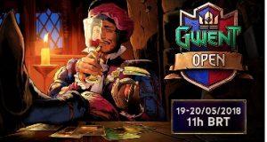 Banner do jogo divulgando o Gwent open 19 e 20 de maio