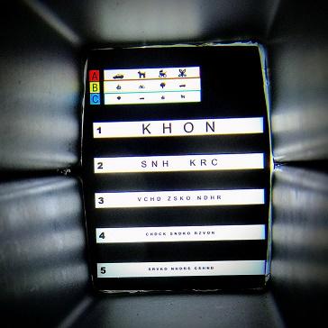 tela no interior do robô coculista