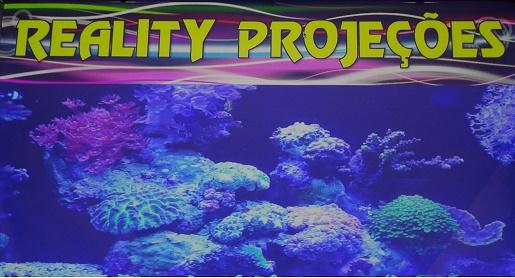 Tela Reality com efeito de fundo do mar