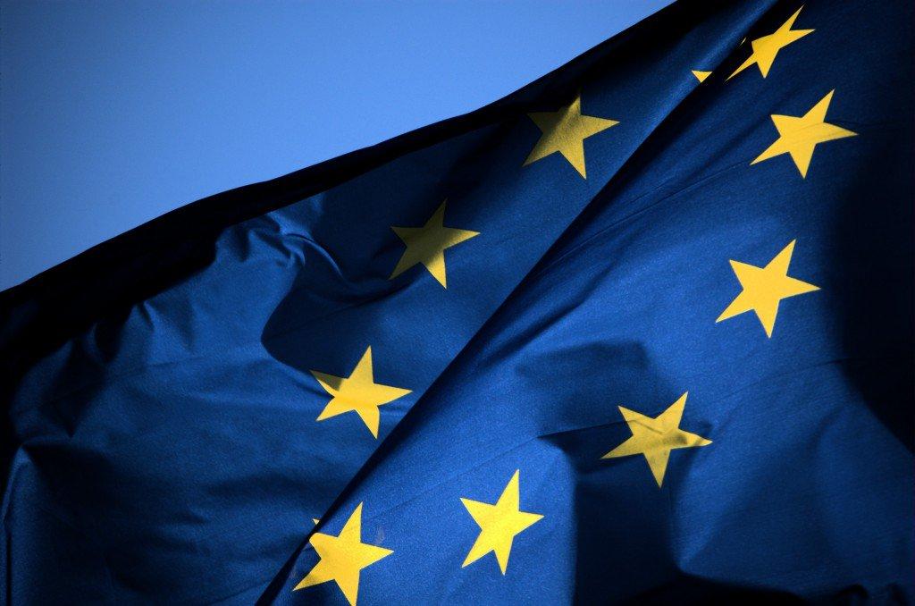 Bandeira da União Europeia mentora do GPDR