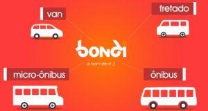 Banner do Bondi várias categorias de veículos