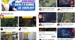 Vários mini banners de games do app Clube TV