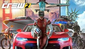 Atleta e veículos do game The Crew 2