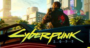 Guerreiro no ambiente do Cyberpunk 2077