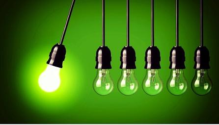 Lâmpadas penduradas eficiência energética