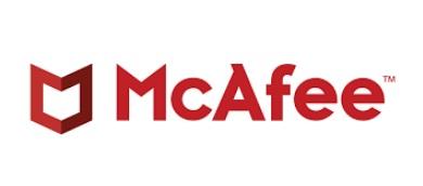 Logomarca da McAfee autora do relatório sobre cibersegurança