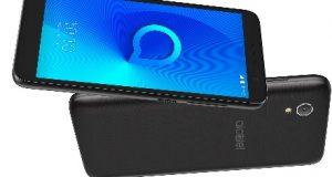 Smartphone Alcatel frontal e trazeira