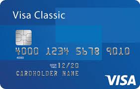 Um cartão da visa