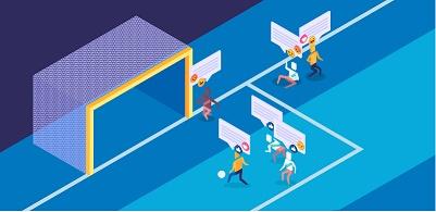 Desenho jogo de futebol