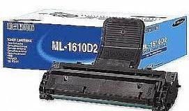 impressora e caixa com toner Samsung 1610