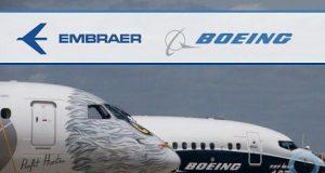 Aviões da Embraer e Boeing juntos