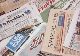 Jornais com arte da Givoa startup que valoria as techies dos colaboradores