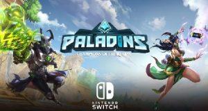 Logomarca do game Paladins no Nintendo Switch