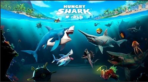 Cena do game Hungry Shark World