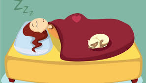 Boneca de desenho animado dormindo qualidade do sono