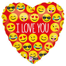 Coraão formado por emoji