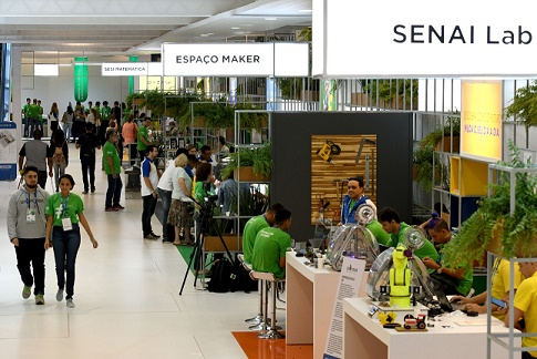Exposição Sesi Senai Olimpíada do conheceimento
