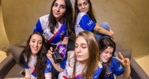 Meninas do Team Front atletas de Rainbow Six