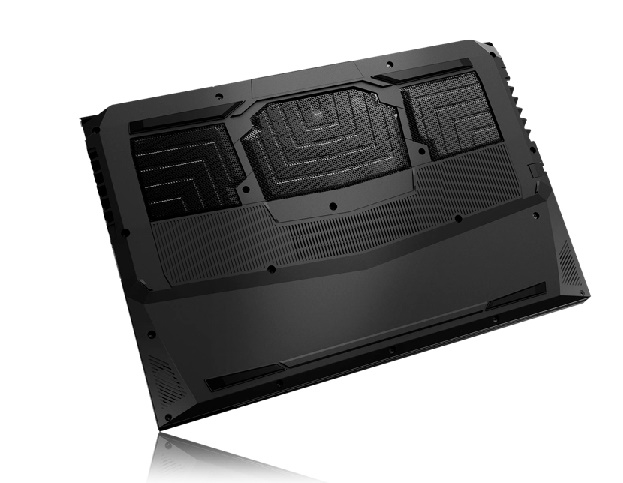 Vista trazeira do notebook gamer G1550 Fox