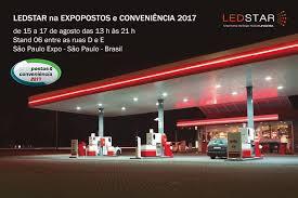 Posto iluminado pela Ledstar Gas Station 7
