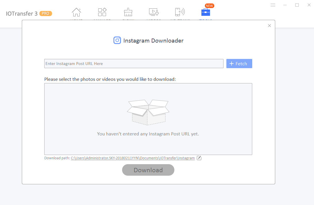 Download do instagram IOTransfer 3
