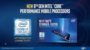 Banner com a 8ª geração de processadores Intel Core