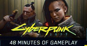 Banner com combatentes do game Cyberpunk 2077