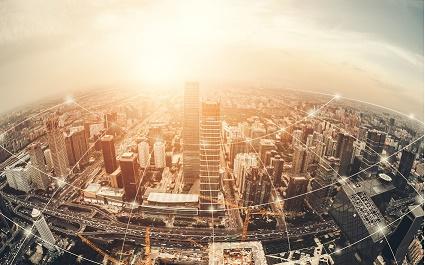 Uma grande cidade Transformação digital