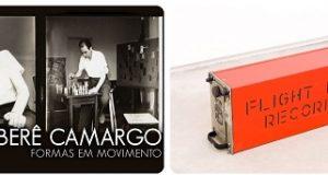 Banner da fundação Iberê Camargo formas em movimento
