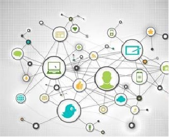 Mídias interligadas representando Internet das coisas da Fluke