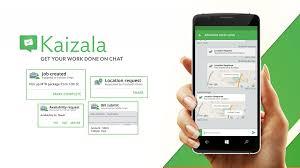 Banner do Kaizala com smartphone