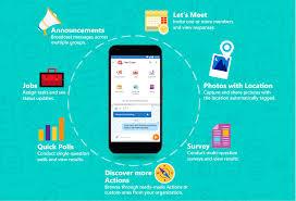 Smartphone com várias funções do Kaizala